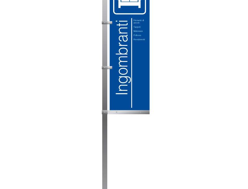 Cartelli PE-cartello singolo bifacciale su palo